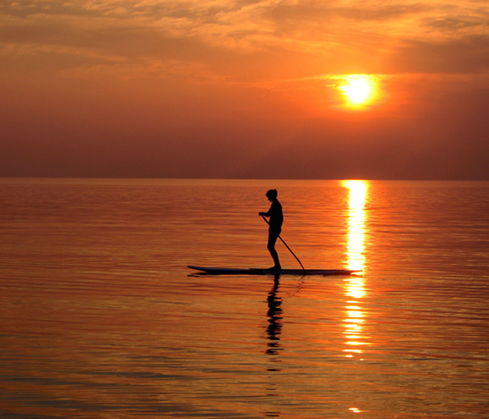 SUP-at-sunset